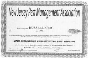Russell Sieb - NJPMA Credentialed WDI Inspector