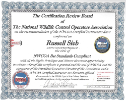 Russell Sieb - NWCOA Bat Standards Compliant Certificate